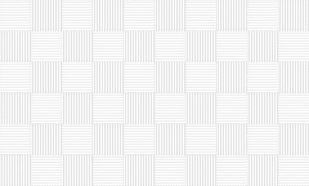 シームレスな白灰色の正方形のタイルパターンの壁の背景。