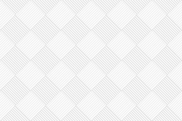シームレスな白灰色の正方形グリッドタイルパターン壁の背景。