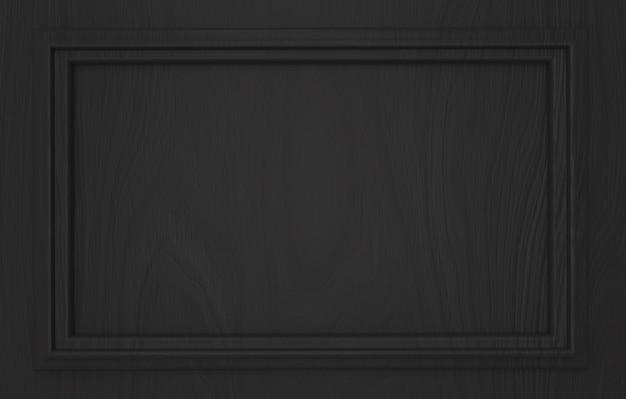 モダンな空暗い古典的なパターンの長方形のフレームの壁の背景。