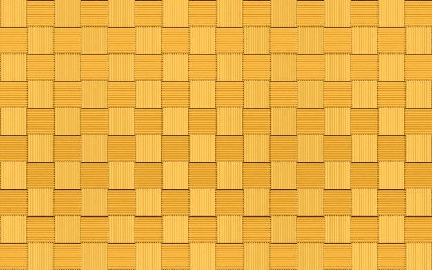 シームレスな黄金の小さな正方形のタイルブロック壁の背景。