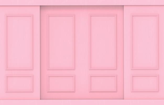 高級甘い柔らかいピンクの古典的なパターンの木製の壁の背景