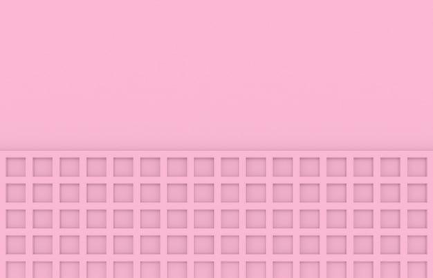 柔らかなトーンの色ピンクの正方形のパターンの壁の背景。