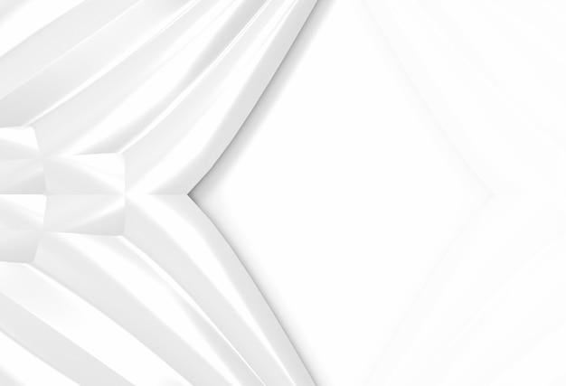 モダンな明るい白い曲線手を振っているパターン壁の背景。