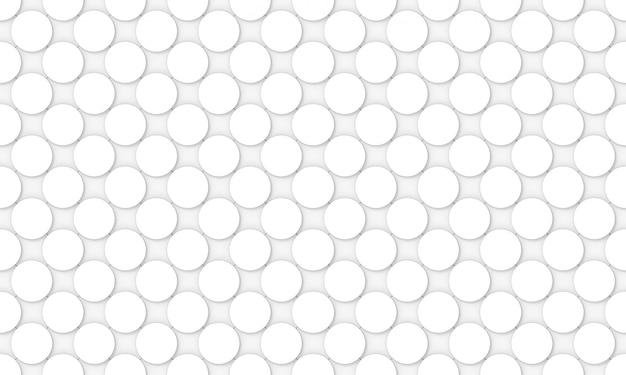 シームレスな白い凸円形円形ボタン形状パターンデザインの壁