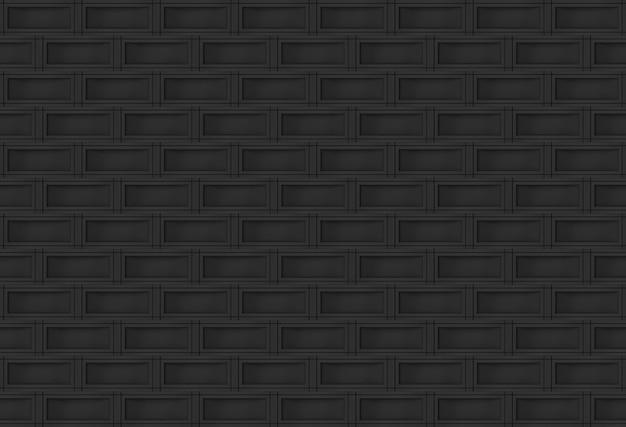 シームレスなモダンな暗い長方形のレンガブロックスタック壁
