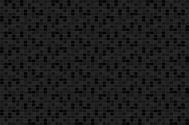 黒のモダンな小さなモザイクスクエアレンガブロックタイル壁