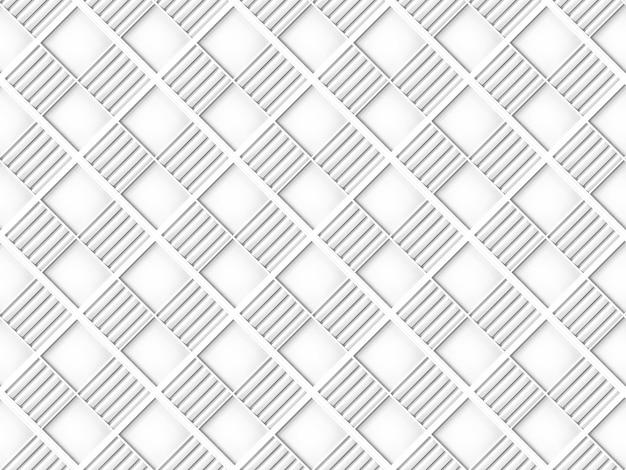 Бесшовная современная белая квадратная сетка плитка шаблон дизайн стены текстура