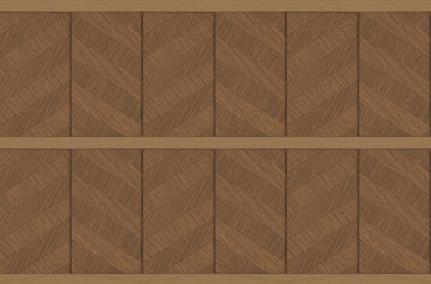 モダンで豪華な堅材パネルの壁デザインテクスチャ背景。