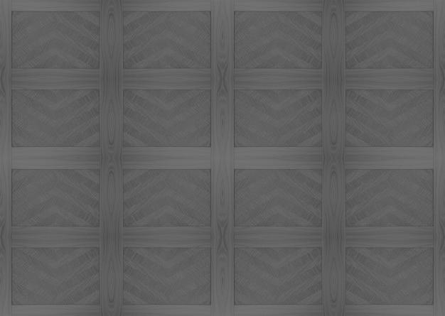 シームレスなダークウッドパネルタイルパターン壁の背景。