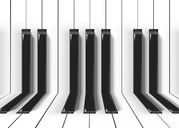 織り目加工のピアノキーボードパターン壁のデザインと床の背景。