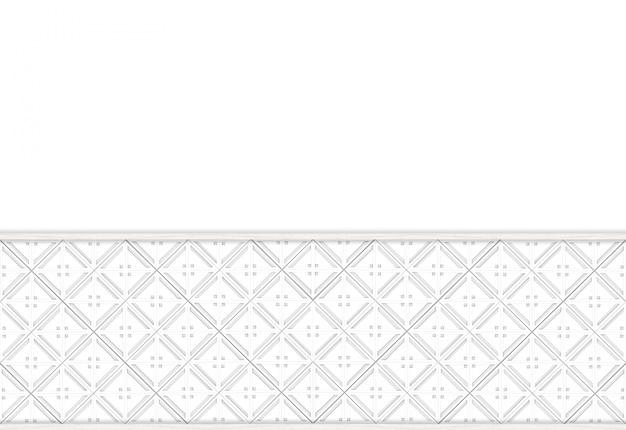 白い壁にモダンな正方形グリッドタイルパターン