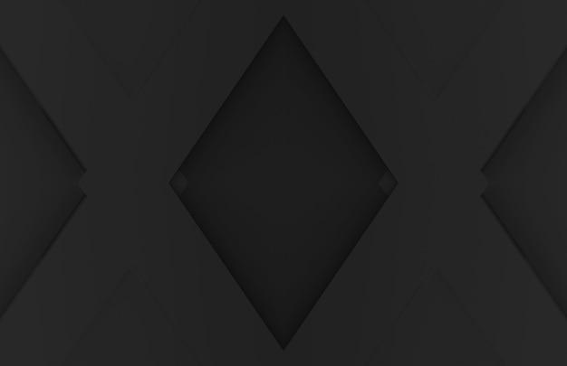 暗い黒グリッド形状の背景。