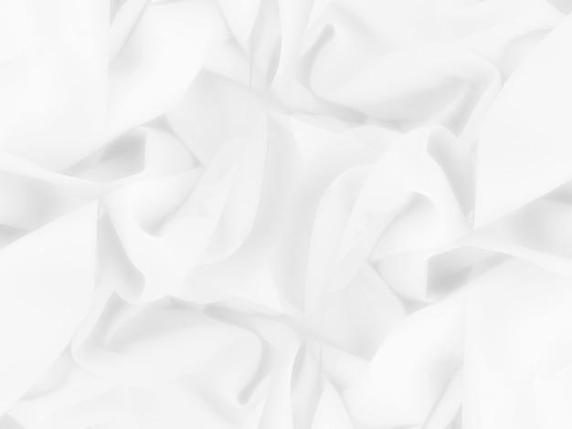 ぼやけた柔らかさの白い布の曲線パターンの壁