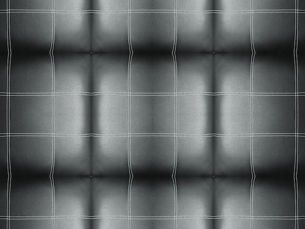 ブラックラインストライプスクエアタイルパターンソファ表面