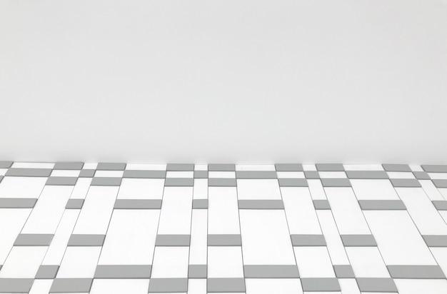 ランダムな正方形のタイル行の壁