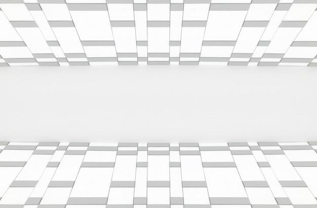ランダムな正方形のタイル行の壁アート