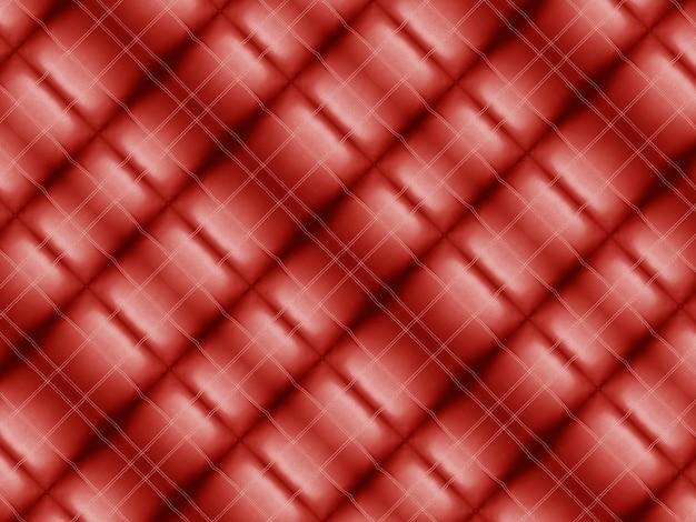 ヴィンテージの赤い正方形パターンタイル生地の壁
