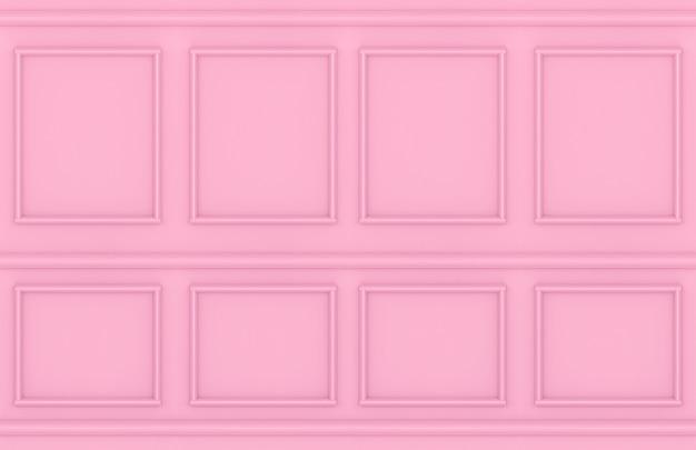 モダンな甘いピンクの正方形の古典的な壁のデザインの背景。