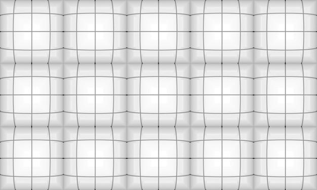 シームレスな白い正方形グリッドパターン背景