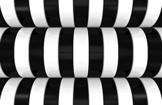 モダンな黒と白の曲線パターン背景