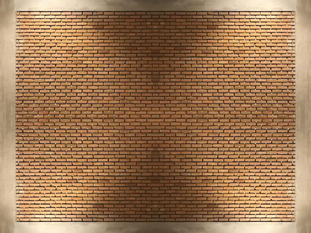 Выдержанная светом стена блоков красного кирпича для винтажной предпосылки дизайна.