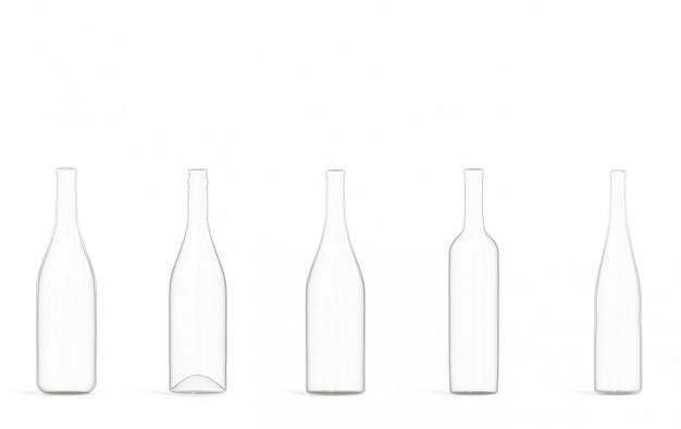 Пустой прозрачный бокал для вина на белом фоне.