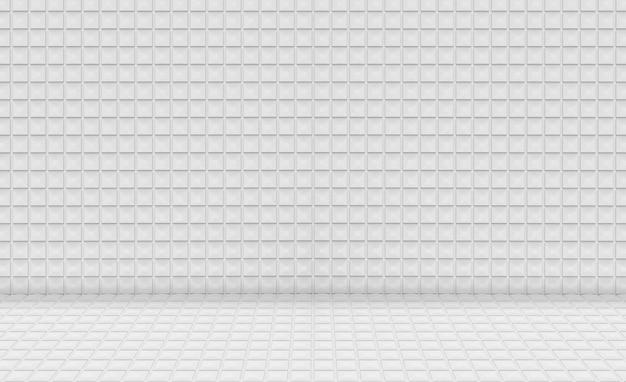 空のモダンな小さな正方形グリッドパターンセラミックタイル壁の設計