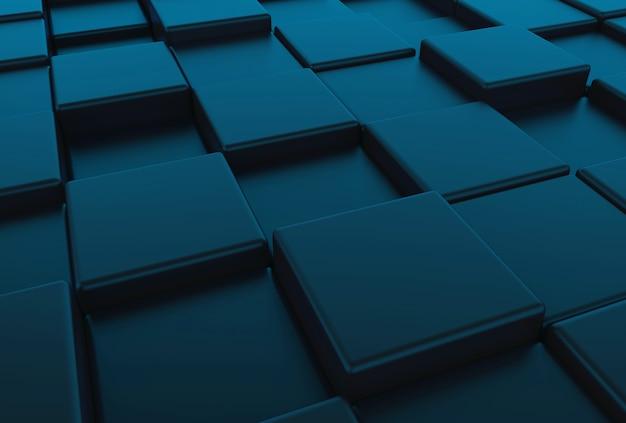 Перспективный вид темно-синий квадратный круглый кубики ящики фон пол пол.