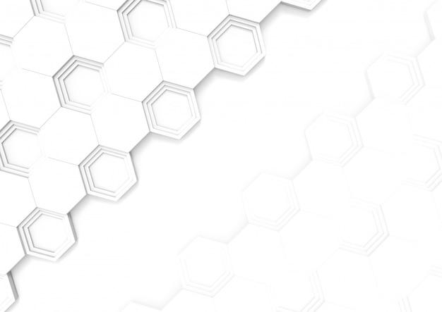 コピースペースの背景に現代的な六角形のタイルパターン。