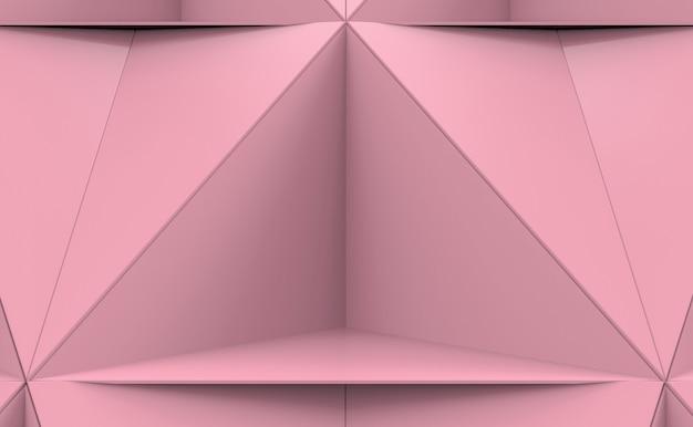 抽象的なピンクのトリポリゴンプレートの形のパターンの背景。