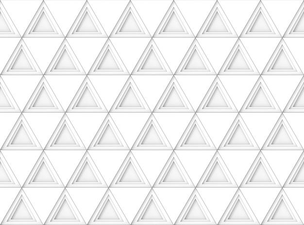 シームレスなモダンな白い三角形のタイルパターンの壁の背景。