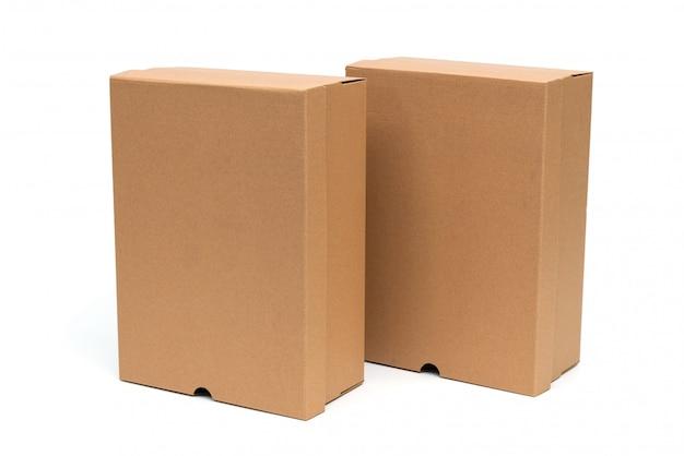 Коричневая картонная коробка для обуви с крышкой для упаковки обуви или кроссовок