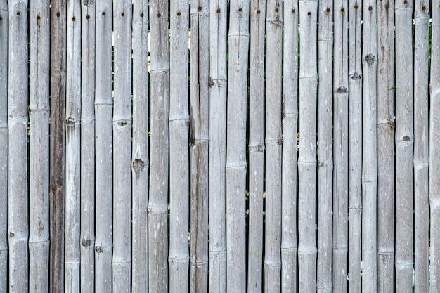 Бамбуковая предпосылка и текстура стены загородки.