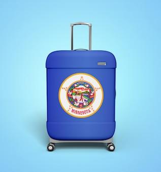 ミネソタの旗のスーツケース - 休暇