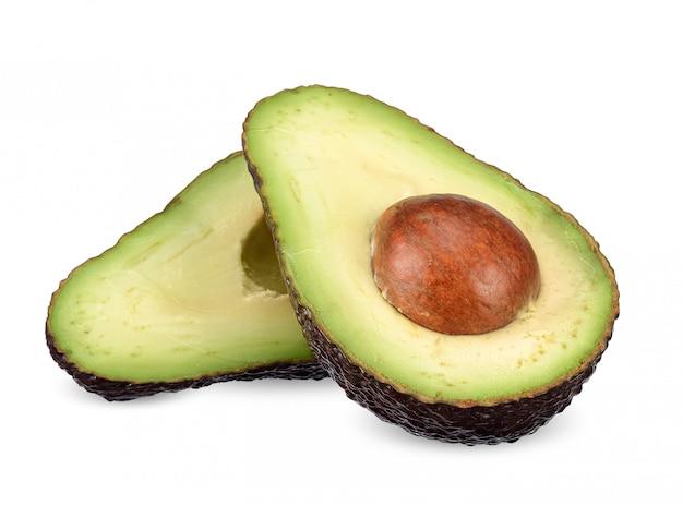 Авокадо, изолированные на белом