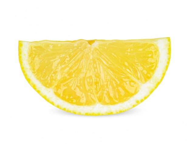 Ломтик лимона, изолированные на белом