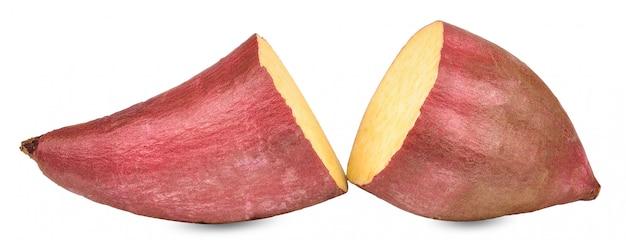 白い背景で隔離のサツマイモ
