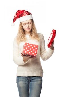 Кавказская женщина открытая подарочная коробка