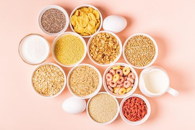 Ингредиенты для здорового завтрака