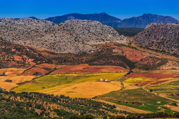 Пейзаж в сельской местности, андалусия, испания.