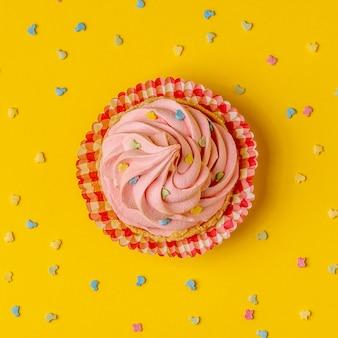 カップケーキ、紙吹雪の背景