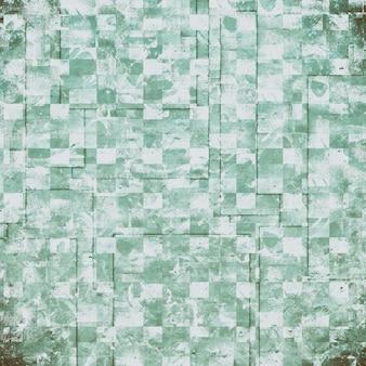 グランジの緑と白の背景