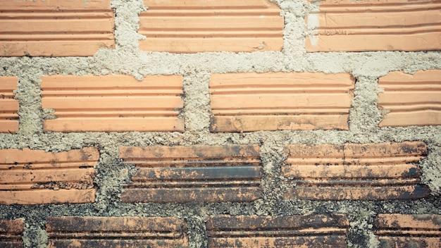 茶色の壁レンガグランジテクスチャ背景