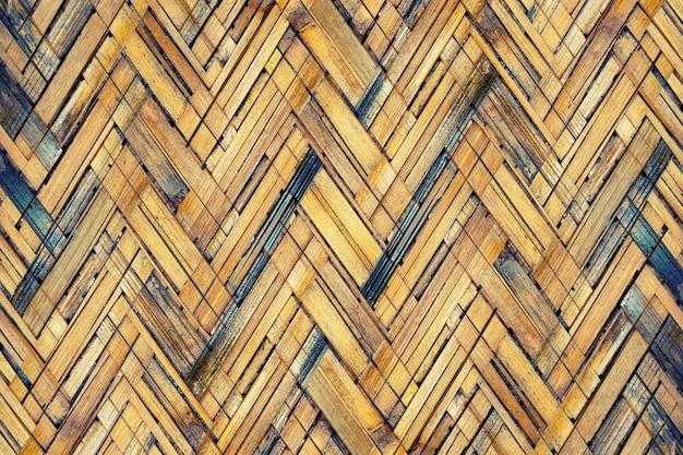 茶色の竹織りのテクスチャ