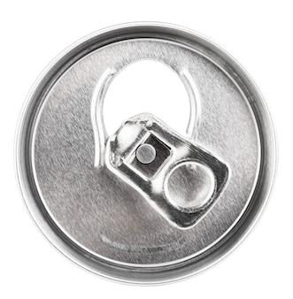 白で隔離されるアルミニウム瓶