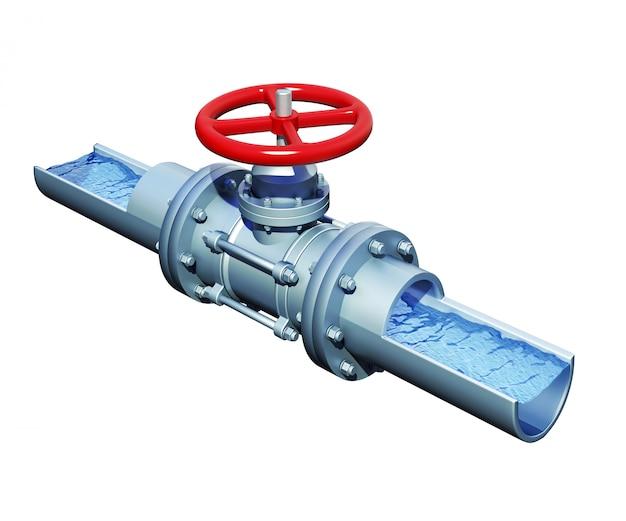 水で鋼管の断面