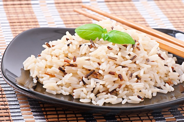 Смешанный отварной рис
