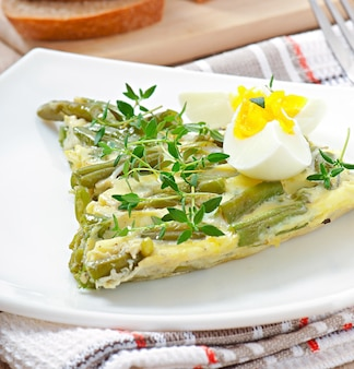 緑豆のオムレツ