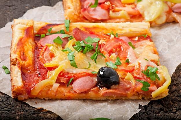 Вкусные кусочки пиццы