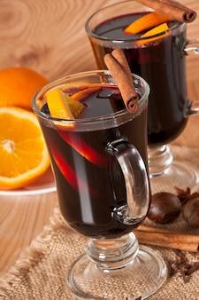 シナモンとオレンジのホットワイン
